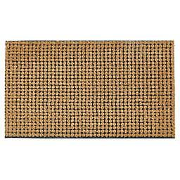 "First Concept 18"" x 30"" Welcome Lattice Coir Door Mat in Natural<br />"