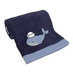 NoJo® Nantucket Adventure Whale Baby Blanket in Navy