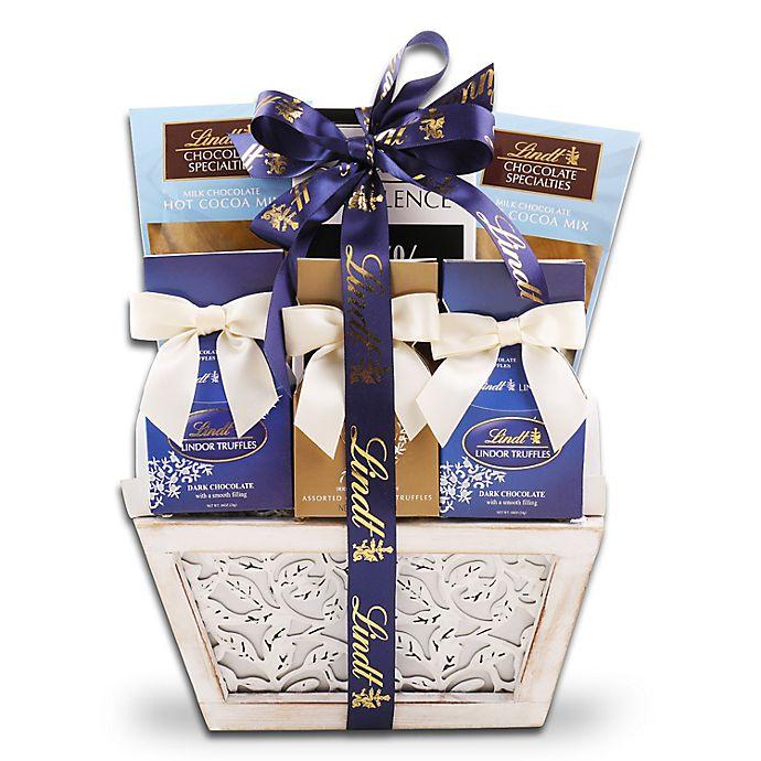 Alternate image 1 for Alder Creek Lindt Holiday Chocolate Gift Basket
