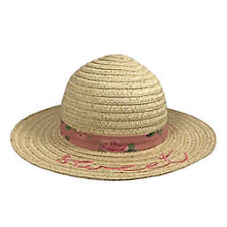 Toby Fairy™ Sweet Sunhat with Floral Band in Desert Rose