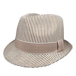 Toby Fairy™ Seersucker Fedora Hat in Sand