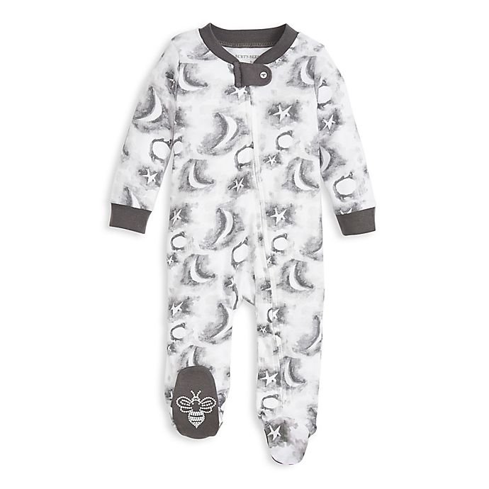 Alternate image 1 for Burt's Bees Baby® Preemie Cloudy Night Sleep & Play Footie in Grey