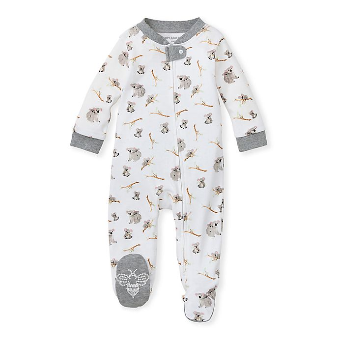 Alternate image 1 for Burt's Bees Baby® Perfectly Koalafied Organic Cotton Footed Pajama