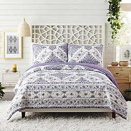 Jessica Simpson Mykonos 3-Piece Quilt Set in Purple