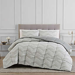 Reversible 3-Piece Chevron Comforter Set