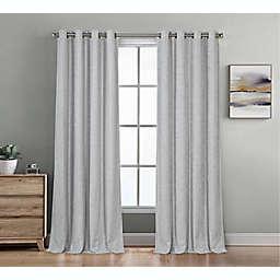 Therapedic® Baldwin 95-Inch Grommet 100% Blackout Window Curtain Panel in Grey