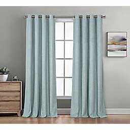 Therapedic® Baldwin 63-Inch Grommet 100% Blackout Window Curtain Panel in Spa Blue