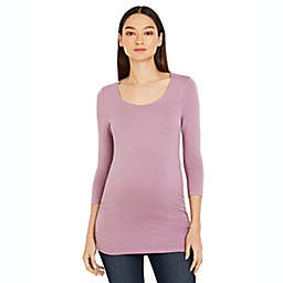 A Pea in the Pod Side Ruched 3/4 Sleeve Maternity T-Shirt