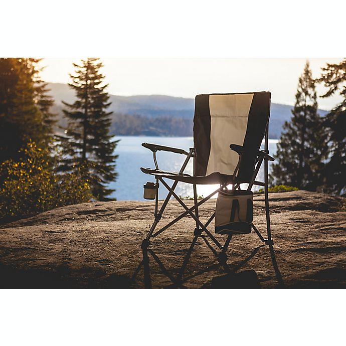 Alternate image 1 for Big Bear XL Folding Camp Chair with Cooler in Black