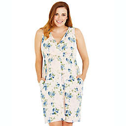 Motherhood Maternity® Medium Floral 3-in-1 Labor, Delivery, and Nursing Gown in Pink