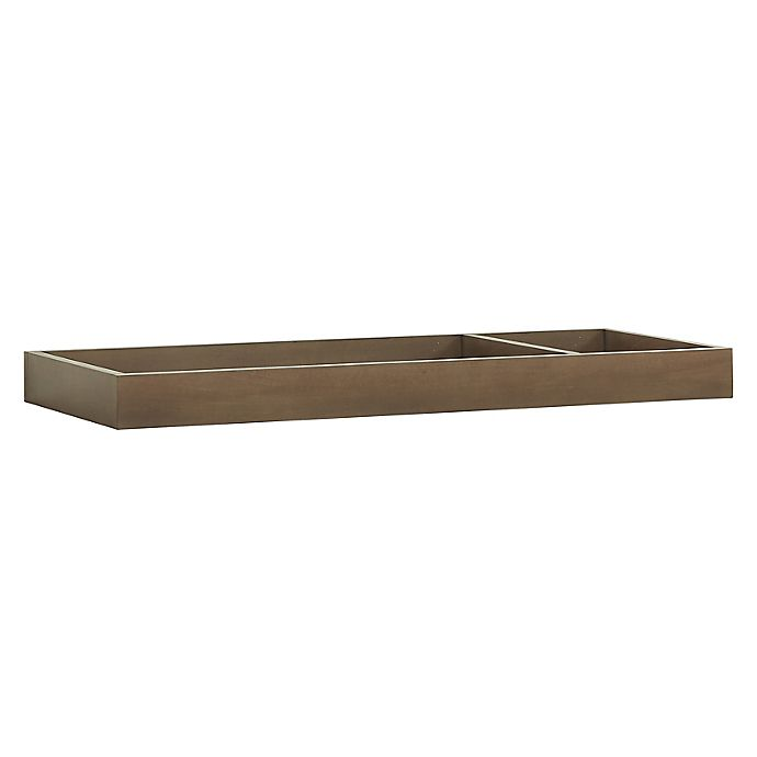 Alternate image 1 for Universal Wide Removable Changing Tray Brown