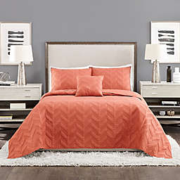 Ayesha Curry™ Texture Chevron 4-Piece Coverlet Set