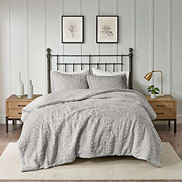 Madison Park® Bismarck Ultra Plush 2-Piece Twin/Twin XL Comforter Set in Grey