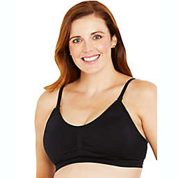 Motherhood Maternity® X-Large Hands-Free Pumping Seamless Nursing Bra in Black