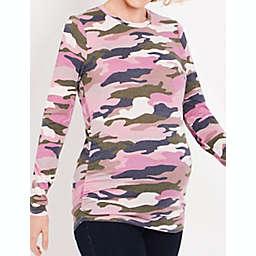 Motherhood Maternity® Sustainable Long Sleeve Ruched Maternity T-Shirt
