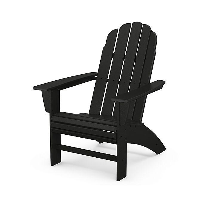Alternate image 1 for POLYWOOD® Vineyard Curveback Adirondack Chair in Black