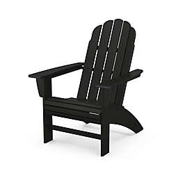 POLYWOOD® Vineyard Curveback Adirondack Chair in Black