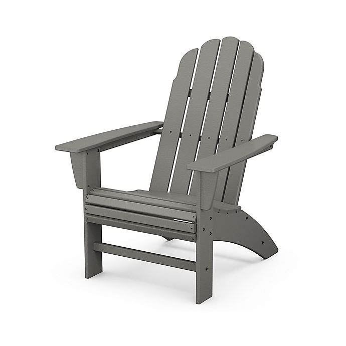 Alternate image 1 for POLYWOOD® Vineyard Curveback Adirondack Chair in Slate Grey