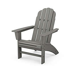 POLYWOOD® Vineyard Curveback Adirondack Chair in Slate Grey