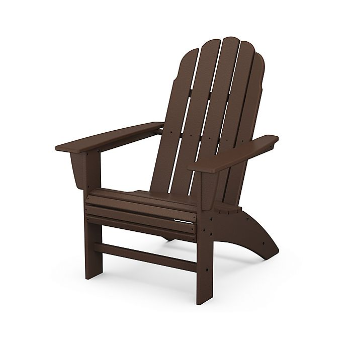 Alternate image 1 for POLYWOOD® Vineyard Curveback Adirondack Chair in Mahogany