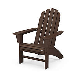 POLYWOOD® Vineyard Curveback Adirondack Chair in Mahogany