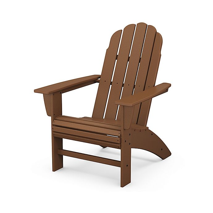 Alternate image 1 for POLYWOOD® Vineyard Curveback Adirondack Chair in Teak