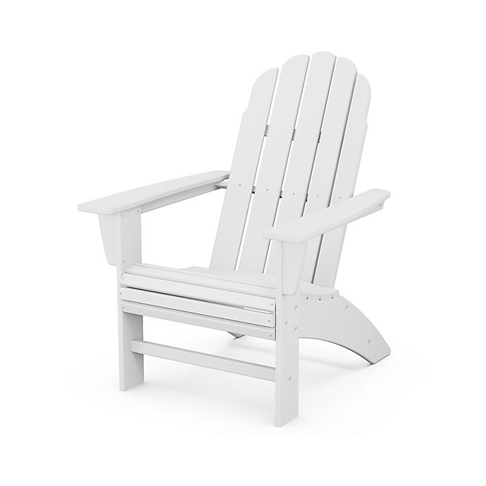 Alternate image 1 for POLYWOOD® Vineyard Curveback Adirondack Chair in White