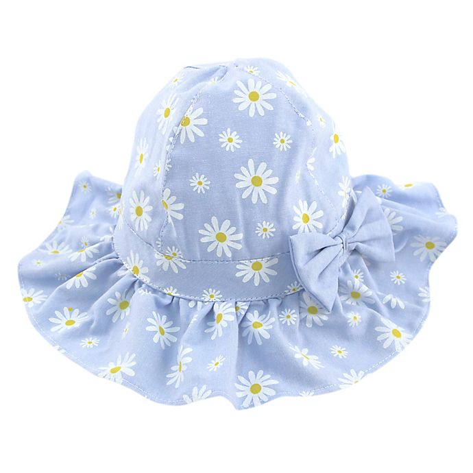 Alternate image 1 for Daisy Chambray Floppy Hat in Blue