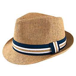 Straw Fedora Hat in Light Brown