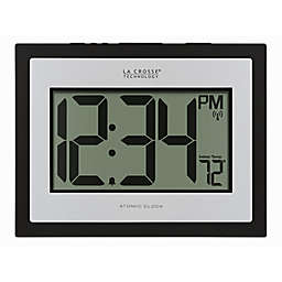 La Crosse Technology Atomic Digital Wall Clock with Indoor Temperature