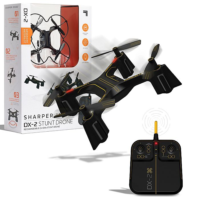 Alternate image 1 for Sharper Image® DX Stunt Drone in Black/Yellow