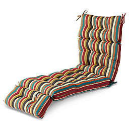 Greendale Home Fashions Sunset Stripe Multicolor Outdoor Chaise Lounge Cushion