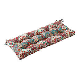 Greendale Home Fashions Asbury Park Outdoor Replacement Swing/Bench Cushion in Blue/Red