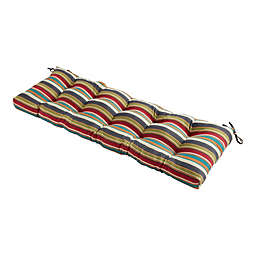 Greendale Home Fashions Sunset Stripe Multicolor Outdoor Bench Cushion