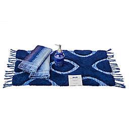 Kali 4-Piece Half Splash Box Bath Accessory Set in Blue