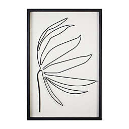 Stratton Home Decor Serene ll 15.8-Inch x 23.6-Inch Framed Metal and Wood Wall Art in Black/White