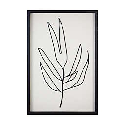 Stratton Home Decor Serene I 15.8-Inch x 23.6-Inch Metal and Wood Framed Wall Art in Black/White