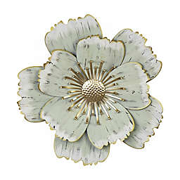 Stratton Home Décor Layered Metal Flower 16.5-Inch x 16-Inch Wall Art in Green