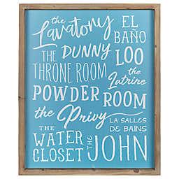 Stratton Home Décor Bathroom Names 16-Inch x 20-Inch Framed Wall Art