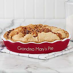 Classic Personalized Ceramic Pie Dish
