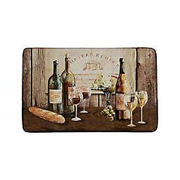 Wine and Cheese Kitchen Mat