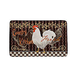 Country Rooster Anti-Fatigue Multicolor Kitchen Mat