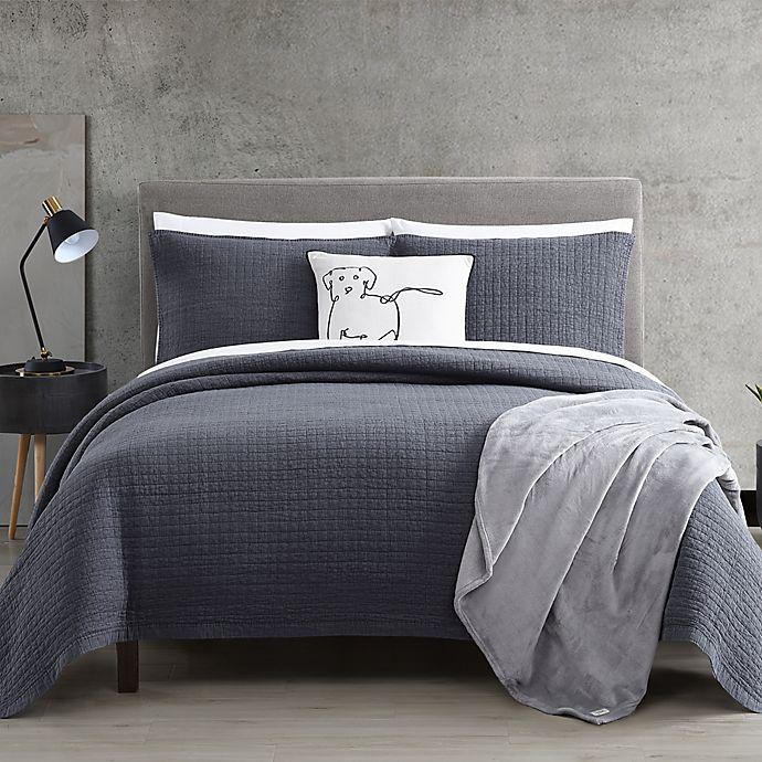 Alternate image 1 for ED Ellen DeGeneres® Sleep Soft Quilt Set in Dark Blue