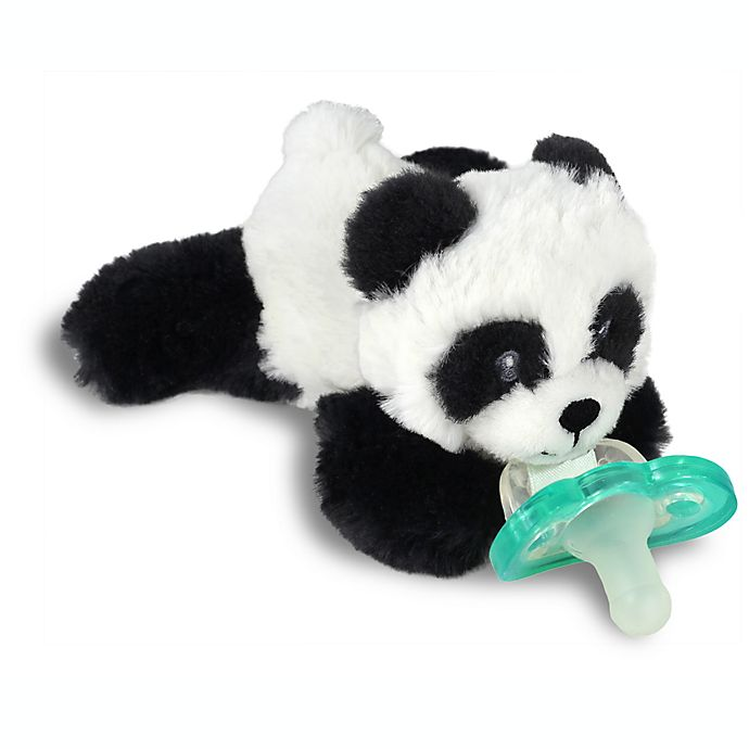 Alternate image 1 for RaZbaby® RaZbuddy Panda Pacifer Holder with Removable JollyPop Pacifier