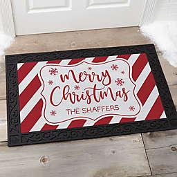 """""""Merry Christmas"""" 18"""" x 27"""" Door Mat in Red/White"""