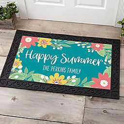 """Summer Florals Personalized 18"""" x 27"""" Door Mat"""