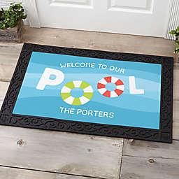 Pool Welcome Personalized Door Mat