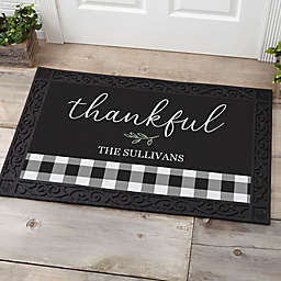 Buffalo Check Door Mat in Black/White