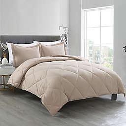 Clean Living Diamond 3-Piece Water-Resistant Comforter Set