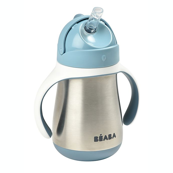 Alternate image 1 for BEABA® 8.5 oz. Stainless Steel Straw Sippy Cup